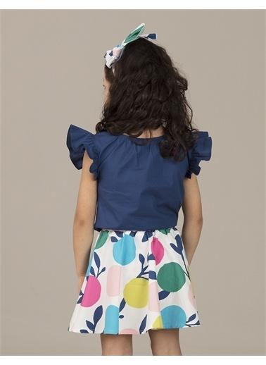 Ollie & olla İndigo Fırfırlı Kız Bluz Lacivert